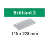 Festool Arkusze ścierne STF 115x228 P120 BR2/100 Brilliant 2