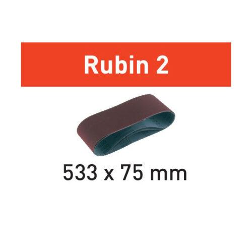 Festool Taśma szlifierska L533X 75-P60 RU2/10 Rubin 2