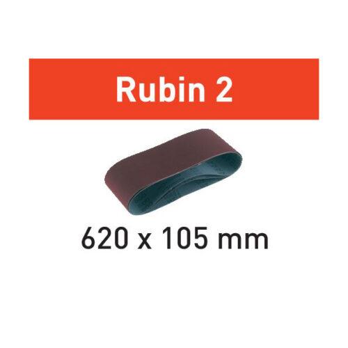 Festool Taśma szlifierska L620X105-P80 RU2/10 Rubin 2